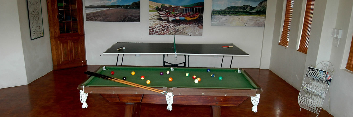 games facilities, pool table, table tennis, Baleens Hotel, Hermanus, baleens restaurant and bar, accommodation, cosy and comfortable, child friendly, guest house, hotels hermanus